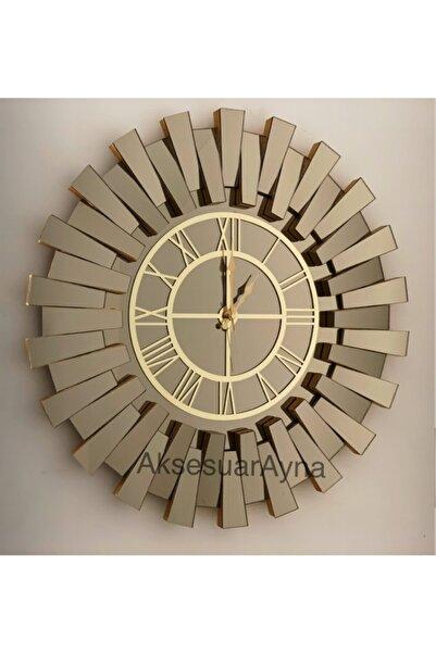 Aksesuarayna Gold Piyano Aynalı Duvar Saati 80cm