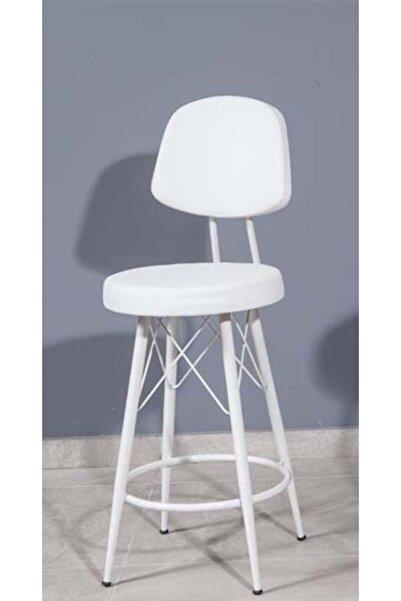 J&S QUALİTY Mutfak Bahçe Cafe Bar Salon Yemek Masası Konforlu Metal Konik Ayaklı 65 Cm. Sandalye