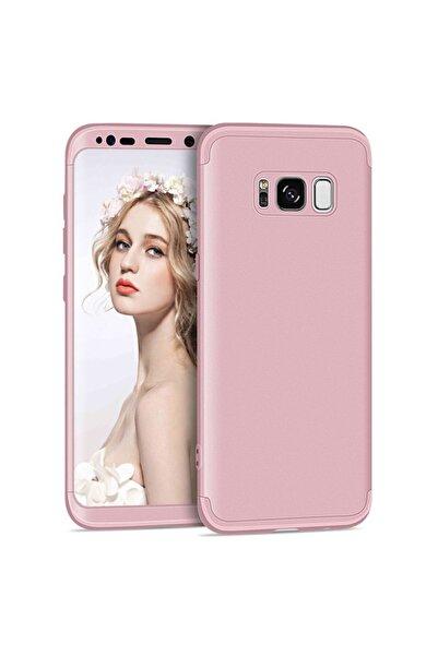 Samsung Microsonic Galaxy S8 Plus Kılıf Double Dip 360 Protective Rose Gold