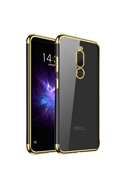 Meizu Microsonic Note 8 Kılıf Skyfall Transparent Clear Gold