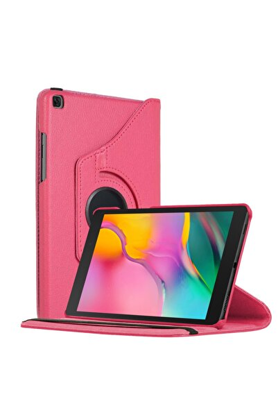"Samsung Microsonic Galaxy Tab A 8"" 2019 T290 Kılıf 360 Rotating Stand Deri Pembe"