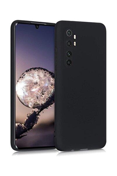 MobilCadde Xiaomi Mi Note 10 Lite Kamera Korumalı Siyah Silikon Kılıf