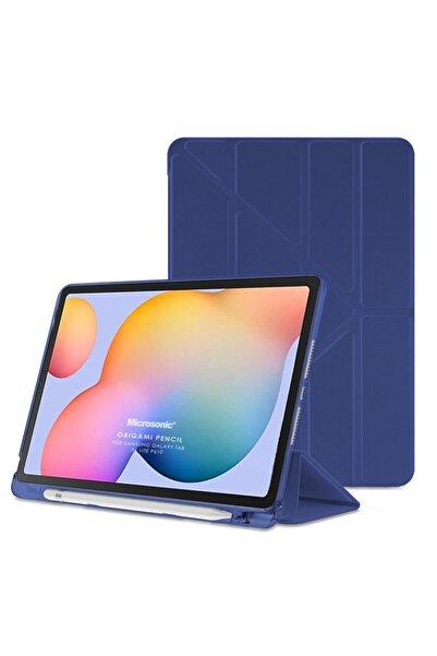"Samsung Microsonic Galaxy Tab S6 Lite 10.4"" P610 Kılıf Origami Pencil Lacivert"