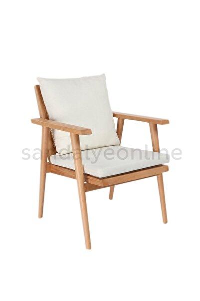 Sandalye Online Julian Ahşap Hazeran Berjer Koltuk Sandalye