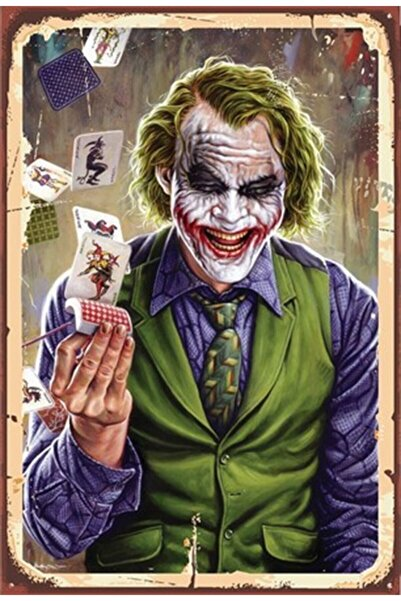 Hayal Poster Joker Ahşap Retro Poster