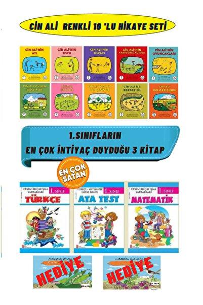 Cin Ali Yayınları Cin Ali 10'lu Kitap Seti+1. Sınıf Etkinlik Çalışma Yaprakları Seti 3 Kitap