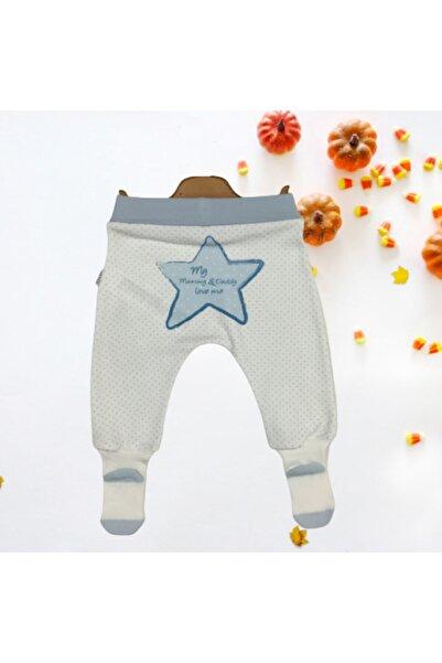 kitikate Yıldız Baskılı Bebek Organik Çoraplı Pantolon