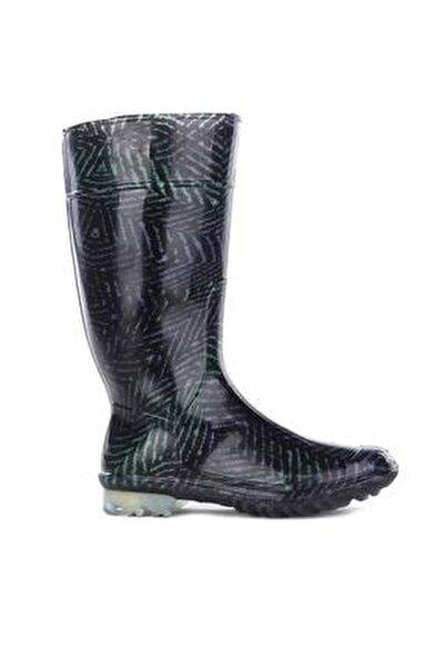 12560 Füme Kadın Yağmur Çizmesi