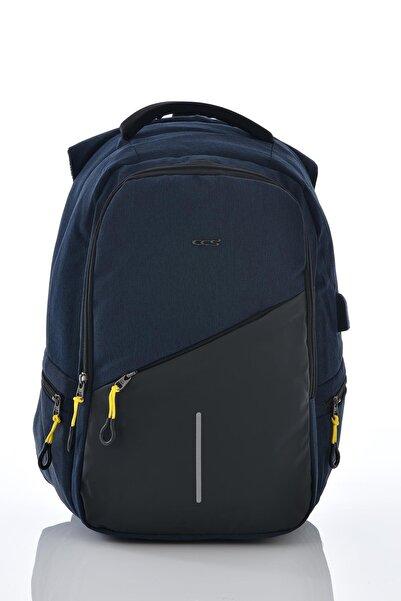 ÇÇS Unisex Lacivert Laptop Bölmeli Sırt Çantası 51259