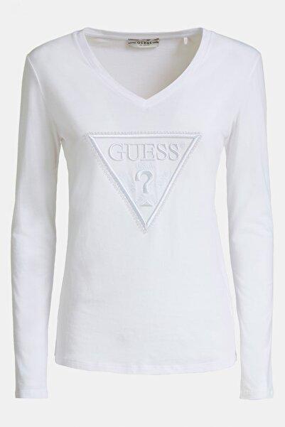 Guess Beyaz Kadın T-Shirt W93I54JA900