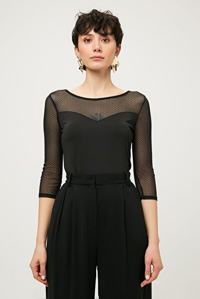 Guess Collection Kadın Siyah Bluz W64P1JK6780