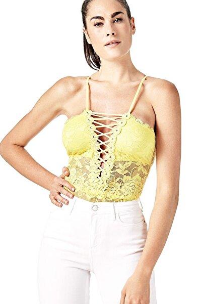 Guess Collection Kadın Sarı Body W81P81R3X51
