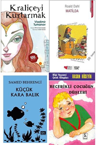 Optimum Kitap Kraliçeyi Kurtarmak, Matilda, Küçük Kara Balık Ve Becerikli Çocuğun Düşleri Kitap Seti