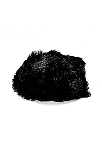 EUROMODA Siyah Renkli Kürklü Kalpak Şapka