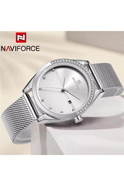 Naviforce Nf5015s/w Analog Hasır Kordon Kadın Kol Saati