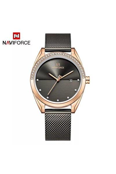 Naviforce Nf5015rg/b Analog Hasır Kordon Kadın Kol Saati