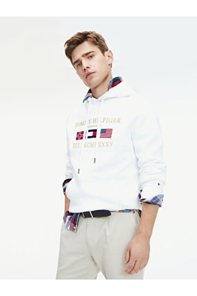 Tommy Hilfiger Global Flag Relaxed Erkek Sweatshirt