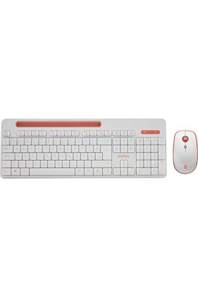 Everest Elite Km-6388 Kablosuz Q Multimedia Klavye + Mouse Set Beyaz/pembe