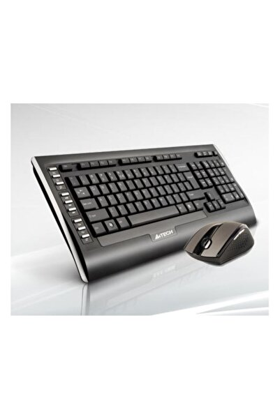 A4 Tech A4-tech 9300f Türkçe Q Kablosuz Klavye Mouse Set Siyah
