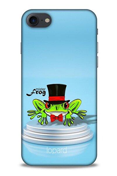 Lopard Iphone 7 Uyumlu  Kılıf Funnymax (7) Telefon Kılıfı Açık Mavi Kurbağa