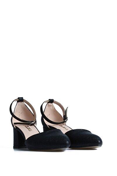 PUNTO Kadın Siyah Günlük Topuklu Ayakkabı