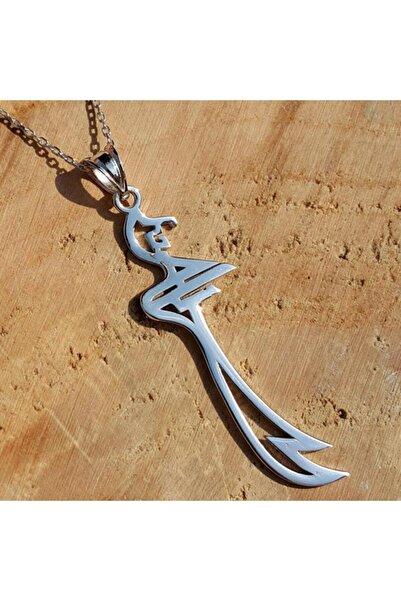 Takı Dükkanı Hz. Ali Zülfikar Kılıcı Bayan Gümüş Kolye 45cm Zincir Wsn141