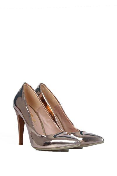 PUNTO Kadın Rose Ayna Günlük Topuklu Ayakkabı