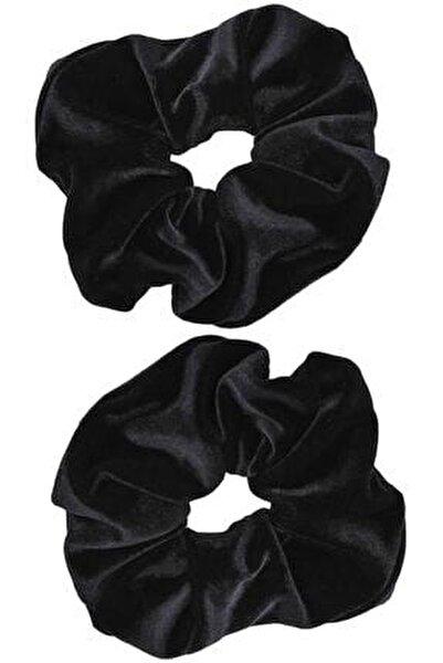 2 ' Li Kadife Siyah Lastik Toka