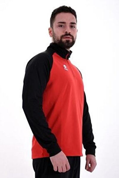Sweatshirt(Halfzip) Erkek Kırmızı/Siyah-Xrıde Iı Sweat Hz Ant Pl-R8976