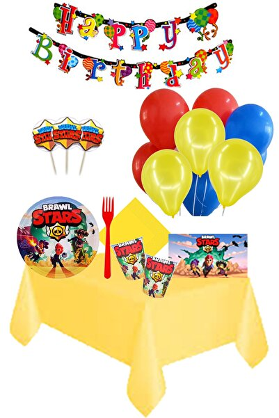 BRAWL STARS Partylandtr 16 Kişilik Doğum Günü Parti Seti