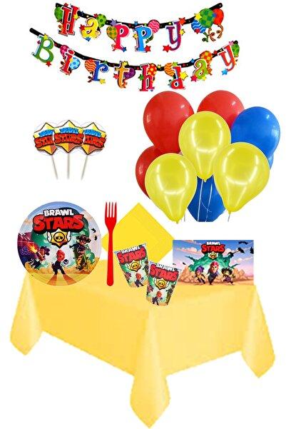 BRAWL STARS Partylandtr 8 Kişilik Doğum Günü Parti Seti