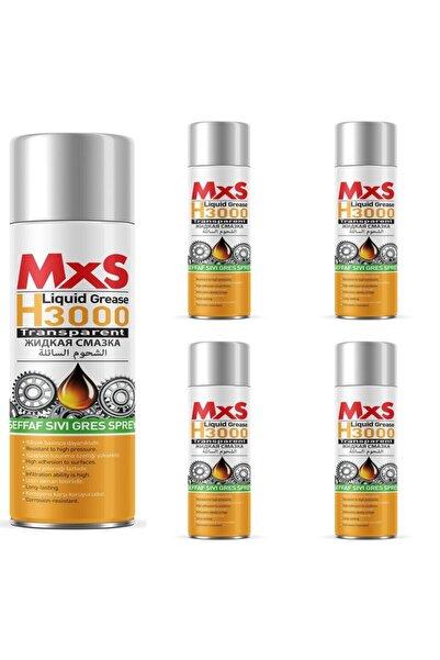MxS H3000 Şeffaf Sıvı Gres Sprey 400 Ml - 5 Adet