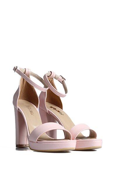 PUNTO Kadın Pudra Günlük Topuklu Ayakkabı