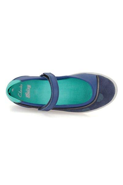 CLARKS Kız Çocuk Ayakkabı 2-6 Yaş Ortopedik Zita Blue Mary Jane Bell