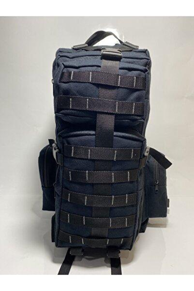 çantacımm Unisex Lacivert Askeri Dağcı Outdoor Kamp Treking Taktik Sırt Çantası 70 Lt