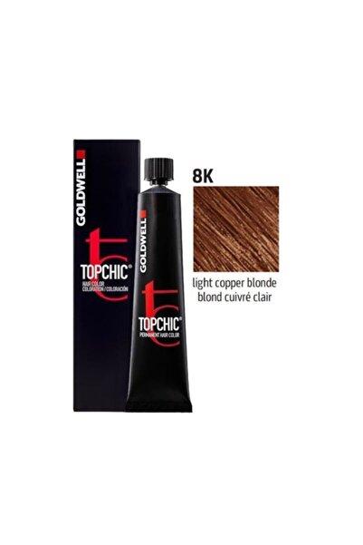 GOLDWELL Topchic Saç Boyası 8k Açık Bakır Kumral 60 Ml + Oksidan
