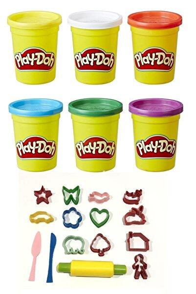 Play Doh Oyun Hamuru 6 ' Lı Ve Oyun Hamuru Kalıbı Seti Hediyeli 15 Parça