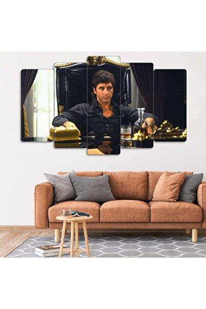 Evonya Scarface, Al Pacino - 5 Parçalı Dekoratif Tablo