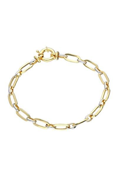 Chavin Hallow Altın Modeli Mikron Kaplama Gümüş Bileklik Eh26