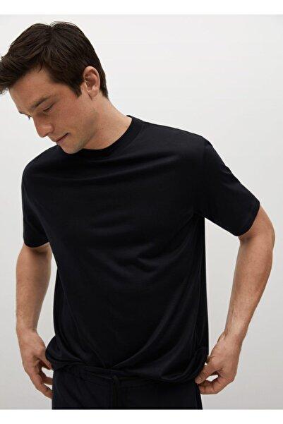 MANGO Man Teknik Yün Kumaşlı Tişört