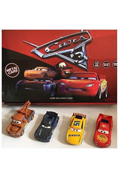 SUDEN Cars Şimşek Mcqueen Mater Oyuncak Arabalar 4'lü Set