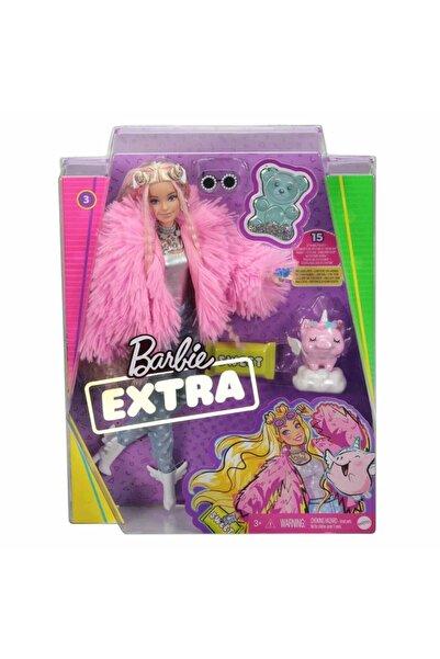 mattel Barbie Extra Pembe Ceketli Bebek Grn28