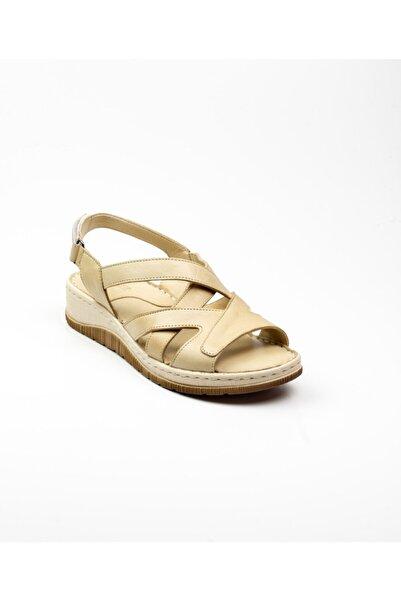 Bulldozer Kadın Bej Deri Sandalet 40 211588