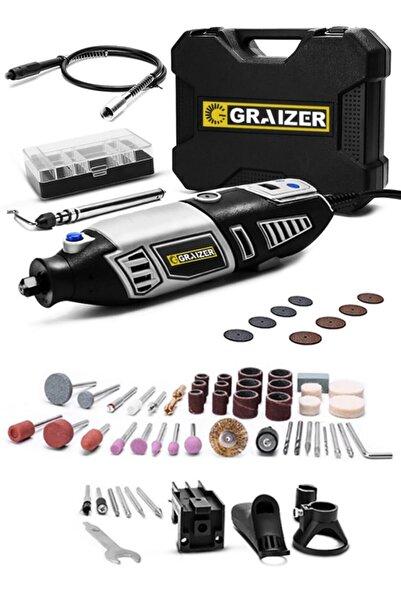 Graizer Alman 117 Parça 400 Watt 60.000 Rpm 6 Kademe Devir Ayarlı Hobi Gravür Seti Mini Taşlama Makinesi