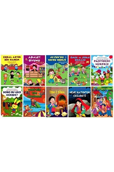 Şiir Çocuk Yayınları Okul Öncesi Değerler Eğitimi Hikaye Seti 10 Kitap - 2
