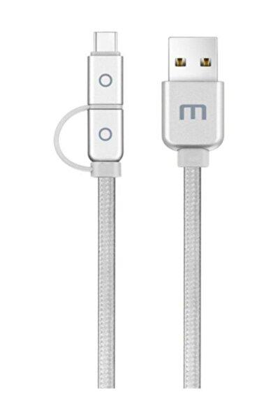 Meizu Micro USB ve Type-C 2'li Kablo (1.2 m) ( Meizu Türkiye Garantili )