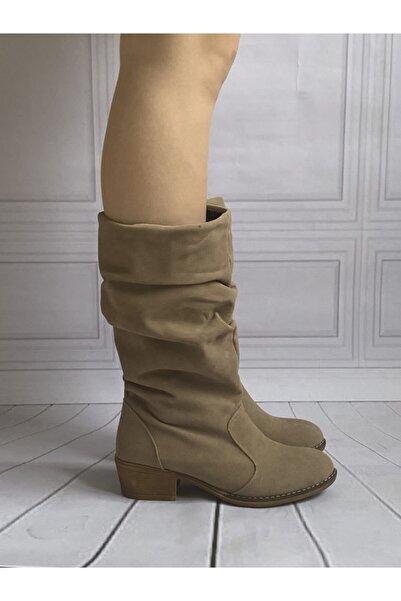 Baybaco Kadın Vizon Nubuk Kovboy Çizme