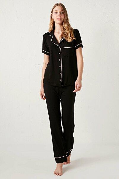LC Waikiki Kadın Siyah  Pijama Takımı
