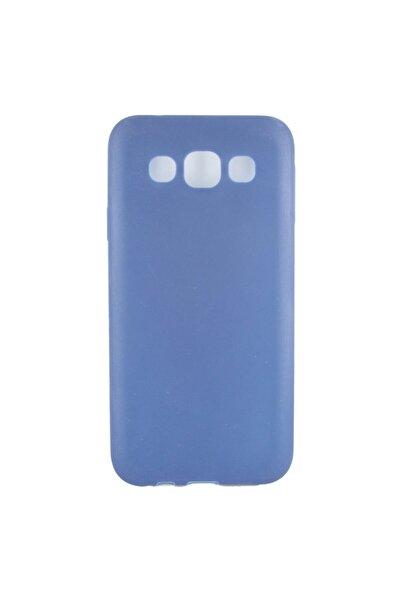 Subzero Samsung Galaxy E500 E5 2015 Için Arka Koruma Silikon Kılıf - Lacivert