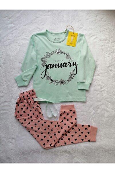Katia&Bony Kız Çocuk Pijama Takımı Hello January
